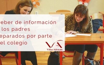 Deber de información a los padres separados por parte del colegio